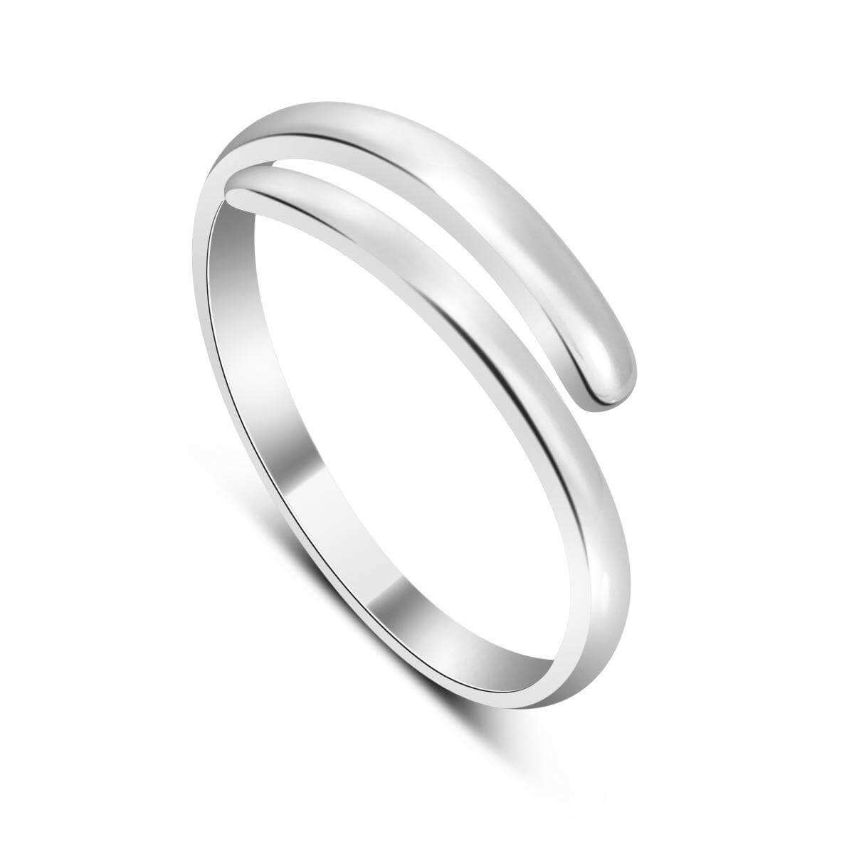 Sterling Silver Plain 2mm Band Adjustable Midi Toe Ring