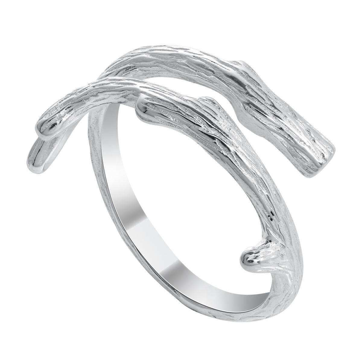 Sterling Silver Detailed Tree Branch Adjustable Midi Toe Ring