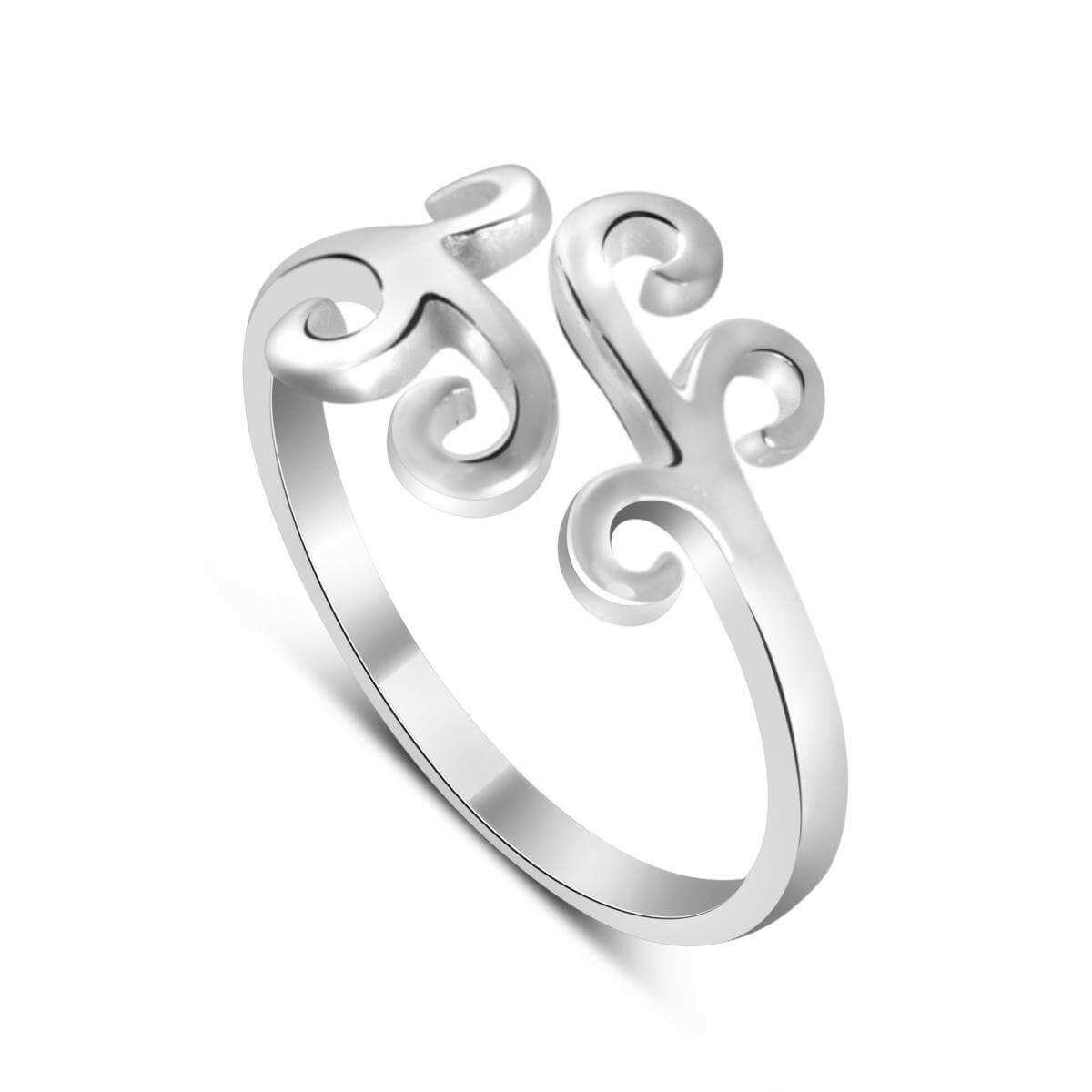 Sterling Silver Swirl Scroll Adjustable Midi Toe Ring