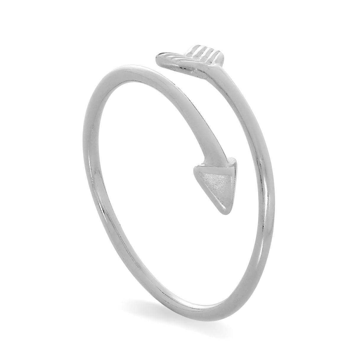 Sterling Silver Arrow Design Adjustable Midi Toe Ring