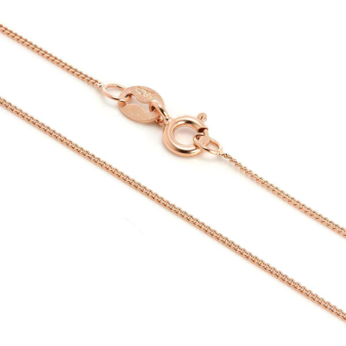 Rose Gold Plated Sterling Silver Fine Diamond Cut Chain 14 - 32 Inches