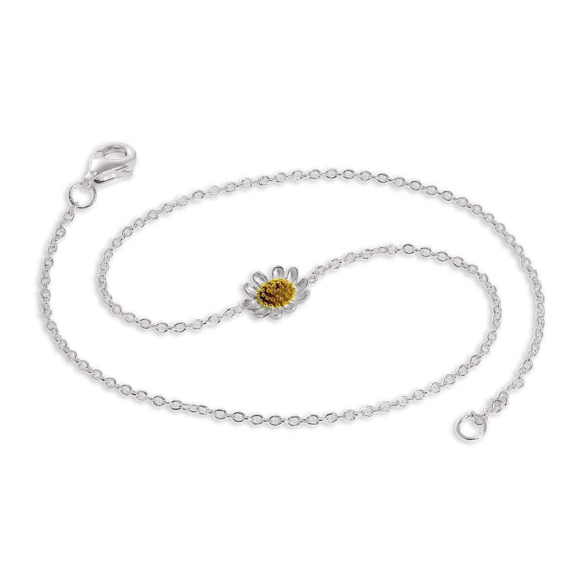 color anklet beads sterling gold foot bracelet anklets jewelry plated ankle leg chain on with inch silver product the girls women delicate store satellite