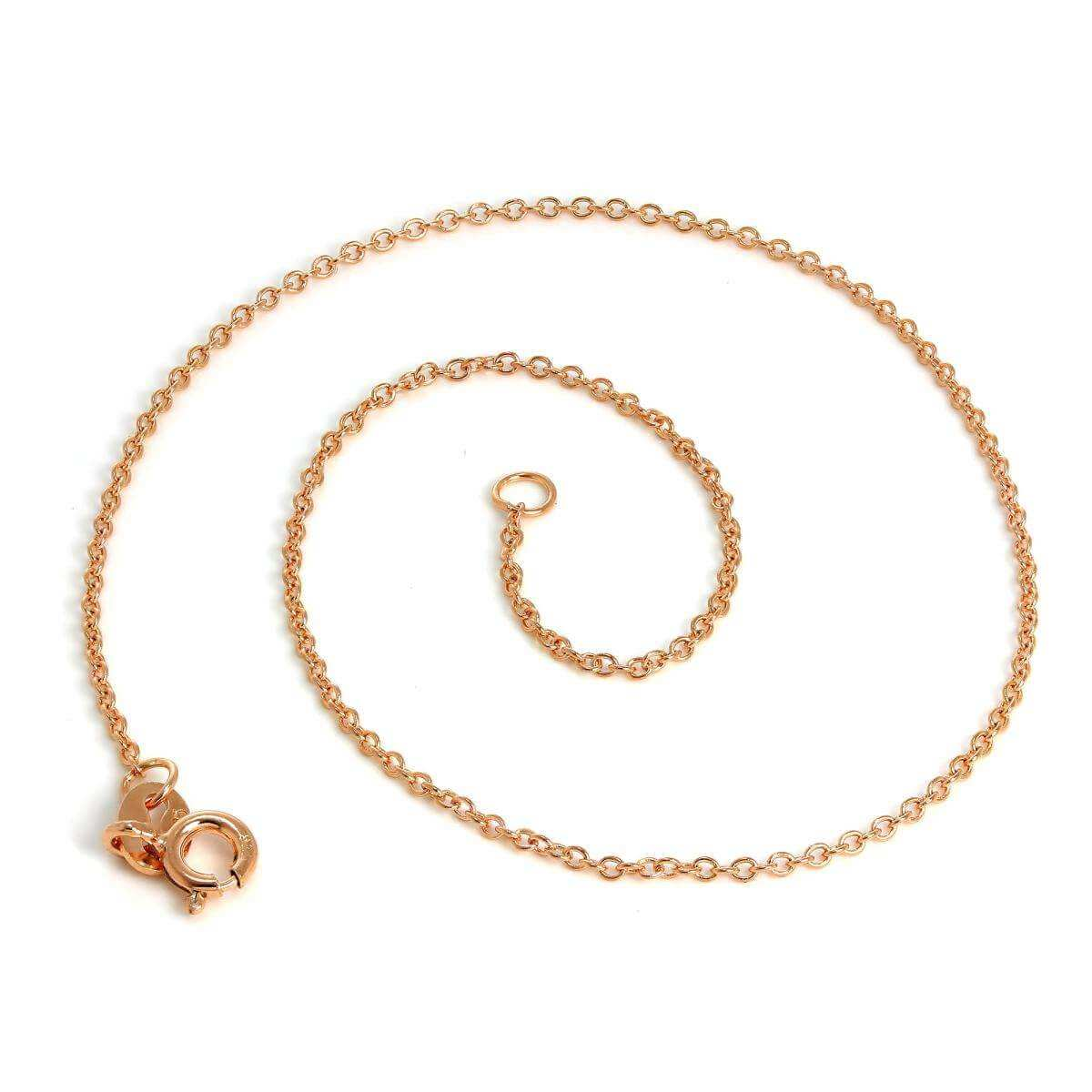 Rose Gold Dipped Sterling Silver Trace Chain Anklet