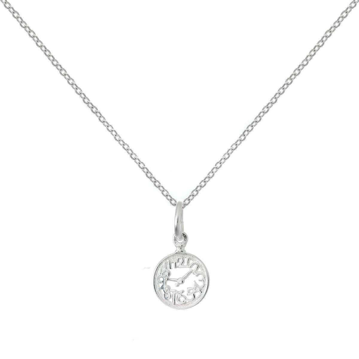 medium in silver wonderland rose alice sterling clock necklace products quartz