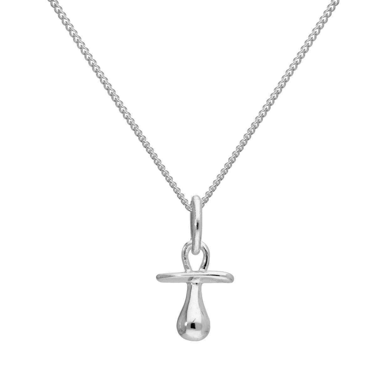 Sterling Silver Baby's Dummy Pendant Necklace 16 - 22 Inches