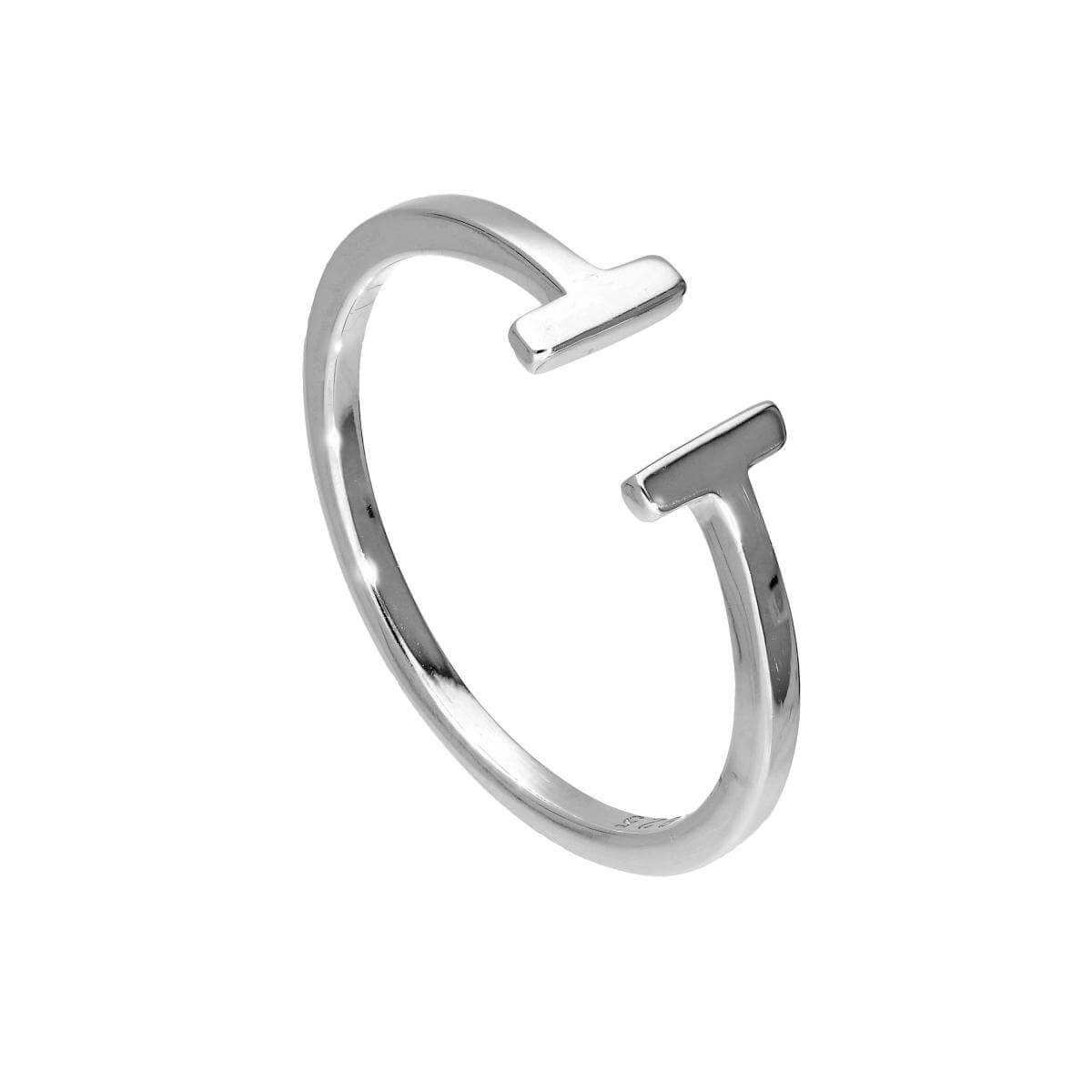 Adjustable Sterling Silver T-Bar Midi Ring