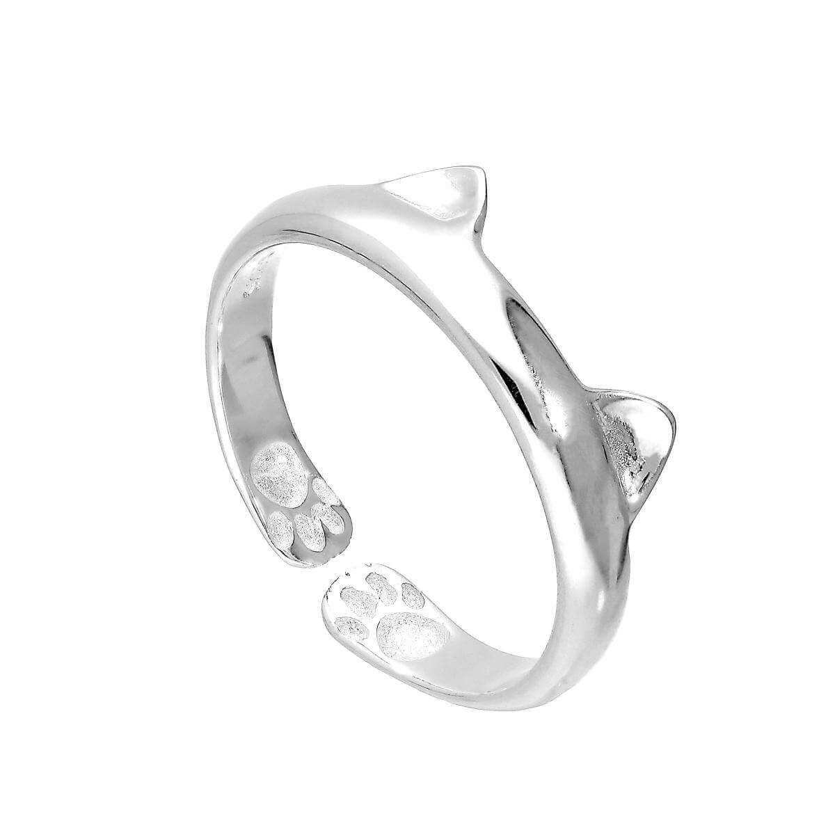 Sterling Silver Cat Ears Midi Toe Ring
