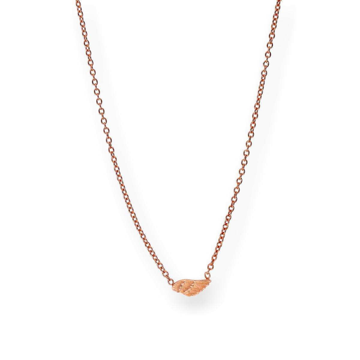Rose Gold Dipped Sterling Silver Wing Necklace
