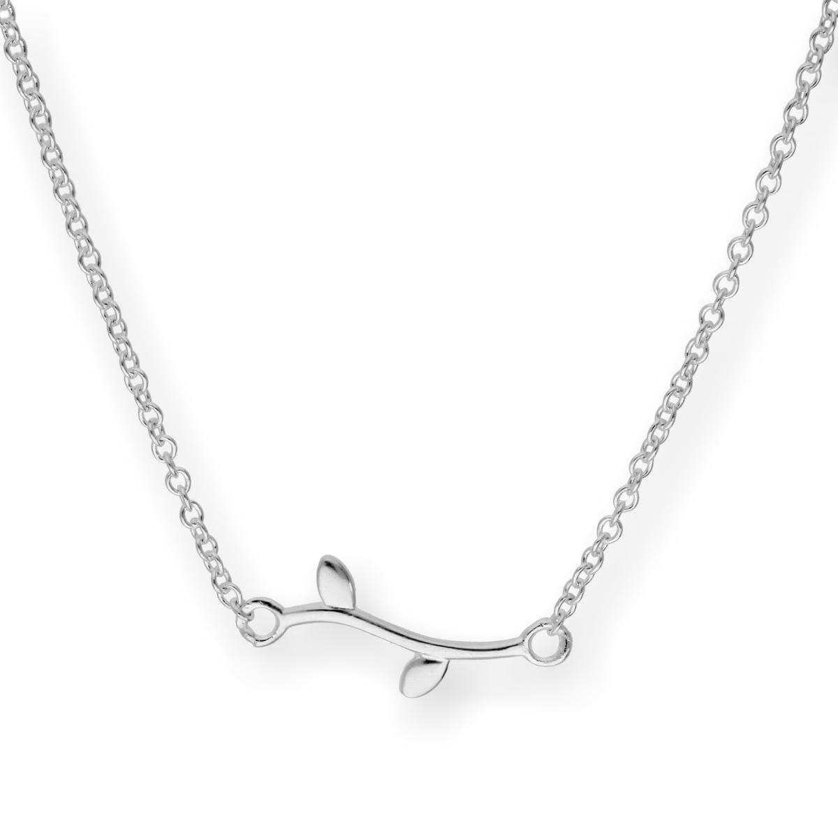 Sterling Silver Leaf 18 Inch Necklace