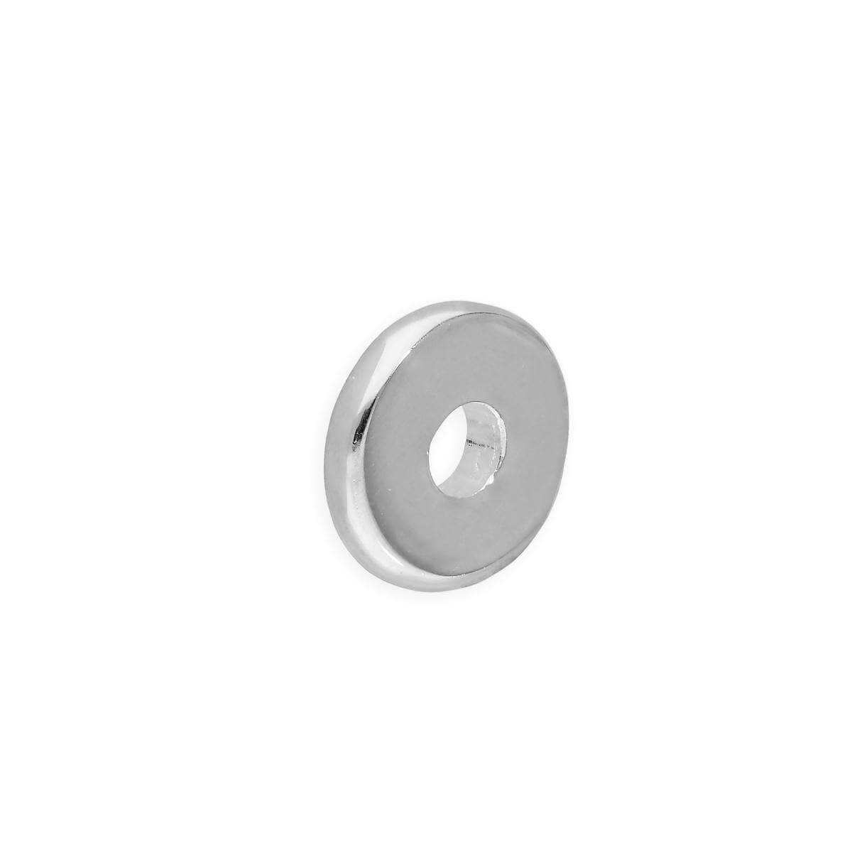 Sterling Silver 1mm Plain Polished Round Flat Disc Ring Bead