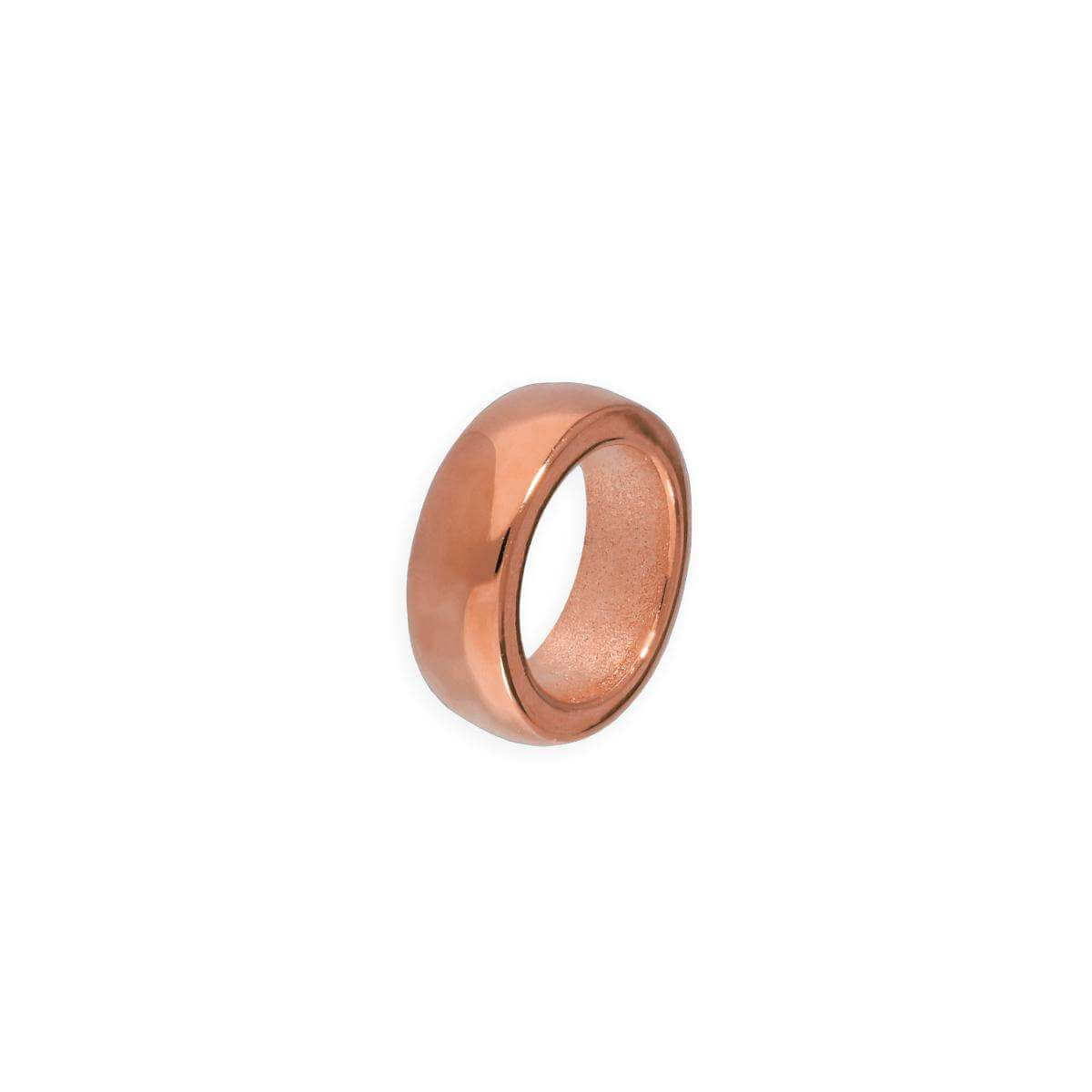 Rose Gold Plated Sterling Silver 2mm Plain Polished Round Ring Bead