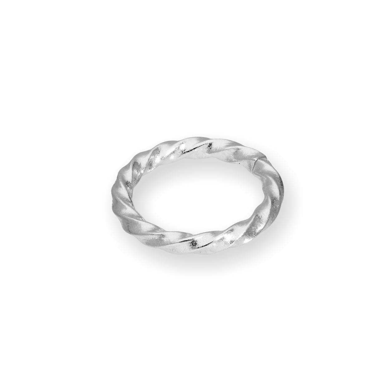 Sterling Silver 1mm x 8mm Round Twisted Unsoldered Jump Ring