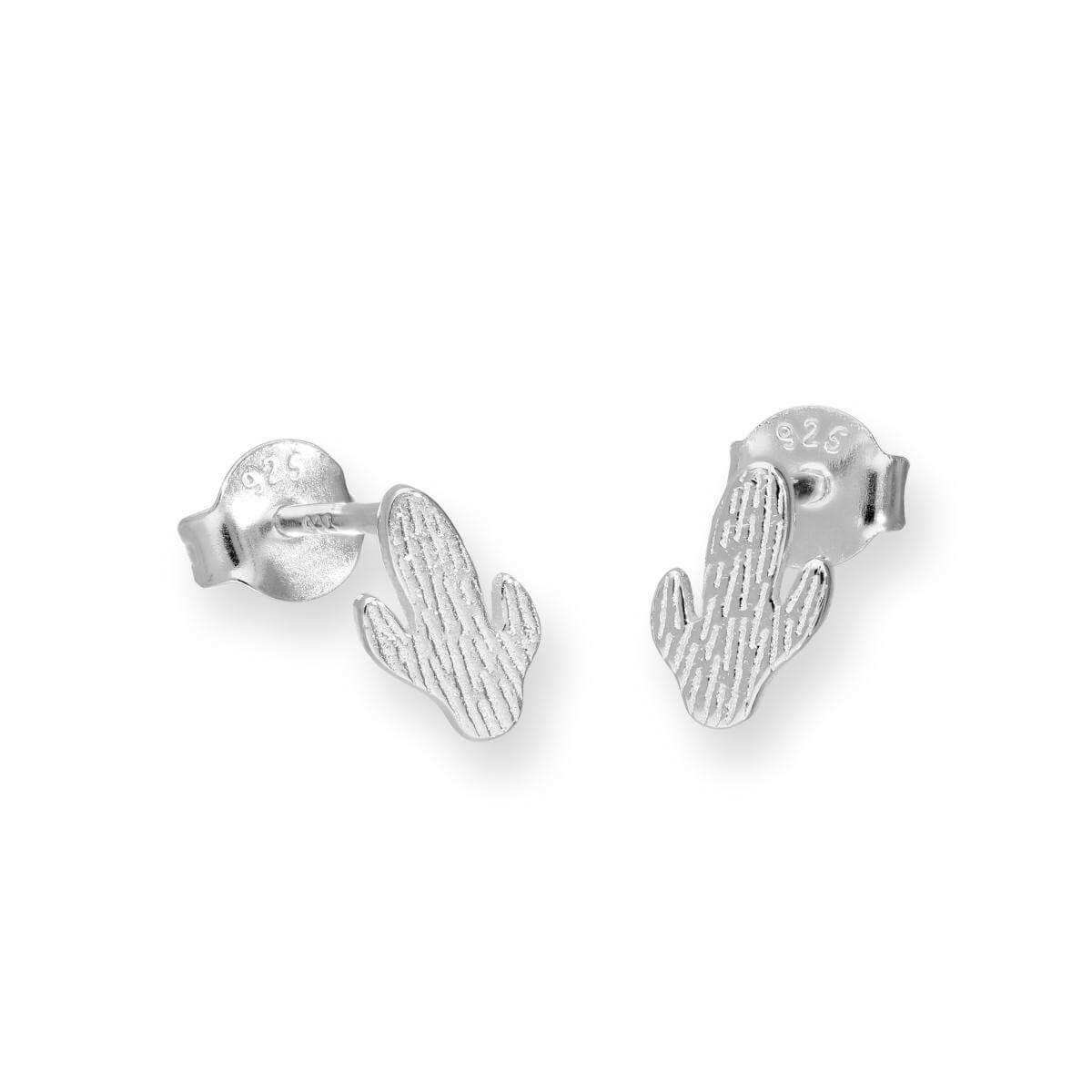 Sterling Silver Cactus Stud Earrings