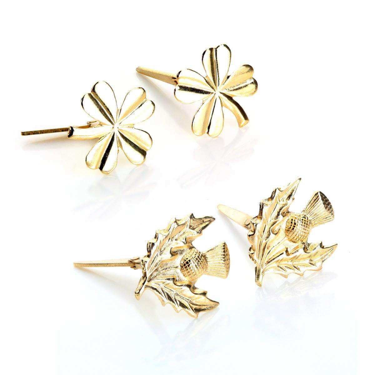 9ct Gold Andralok Celtic Stud Earrings Set