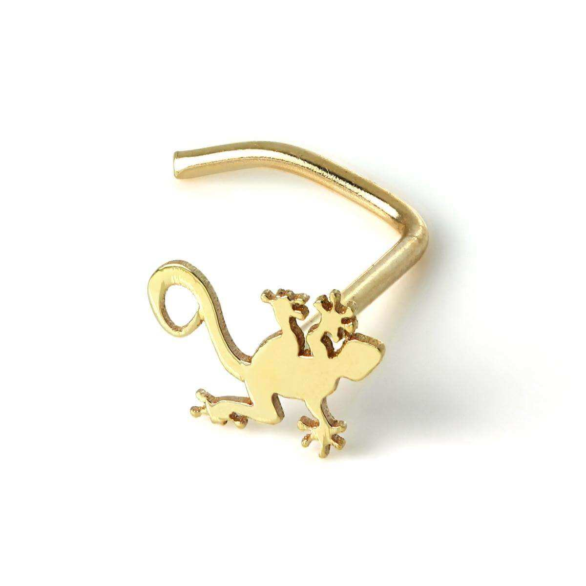 9ct Gold Gecko Nose Screw