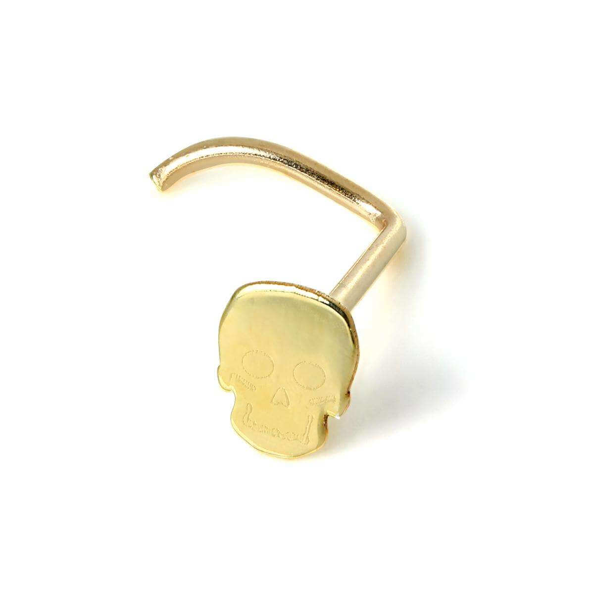 9ct Gold Skull Nose Screw
