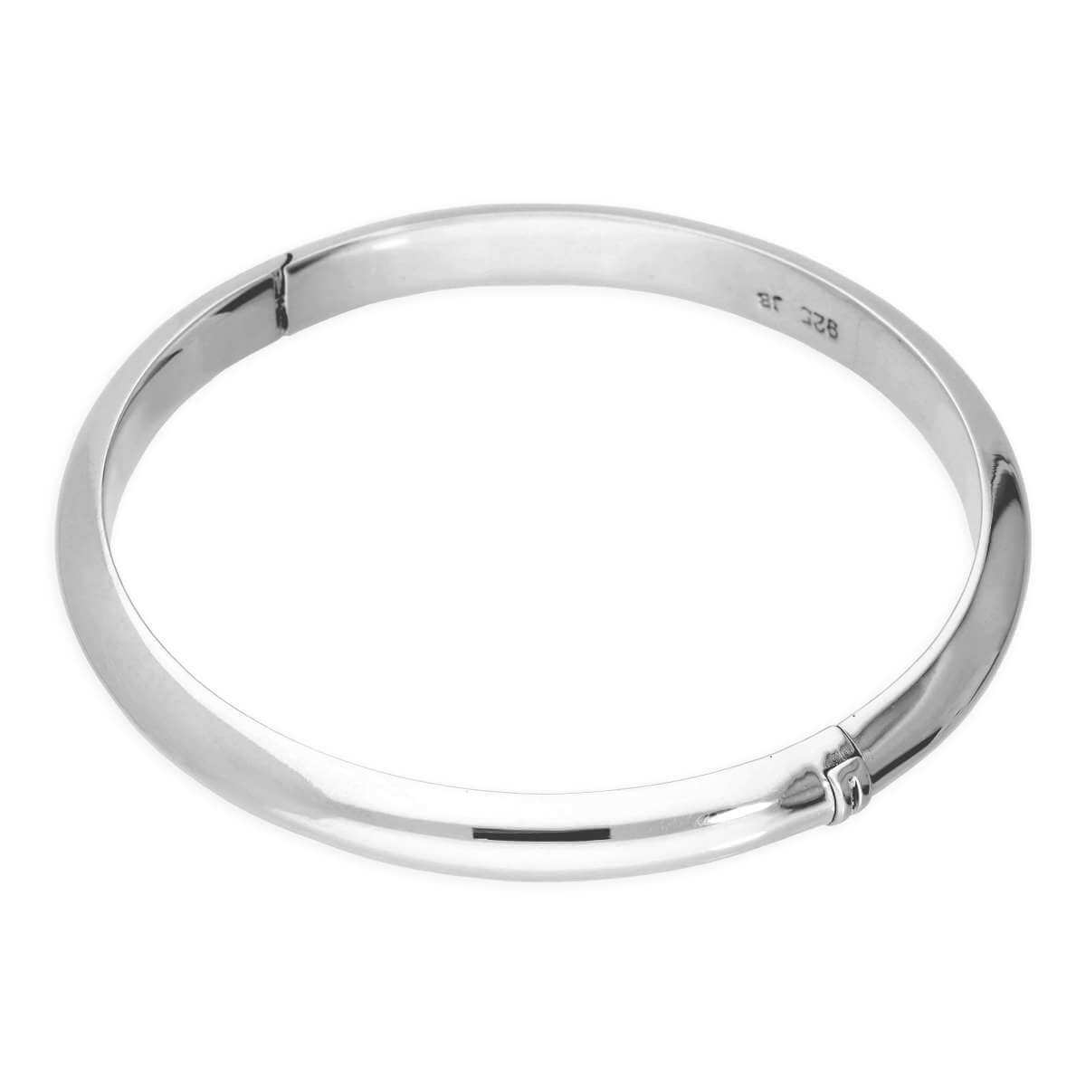 Sterling Silver 38mm Baby Hinged Bangle