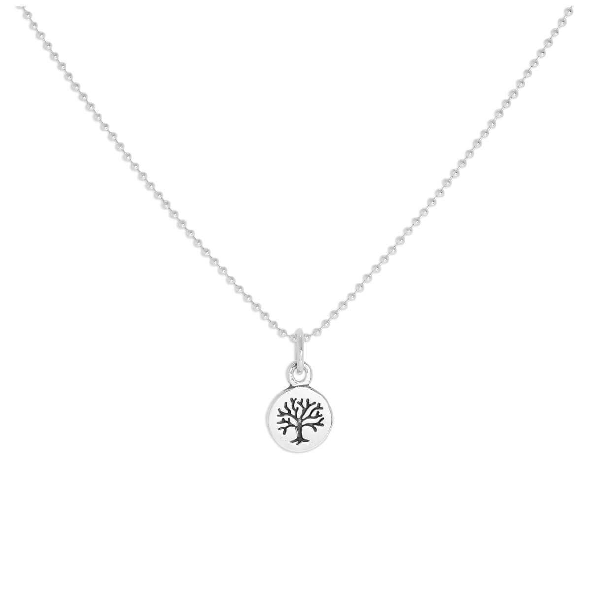 Tiny Sterling Silver Tree of Life Pendant Necklace 14 - 22 Inches