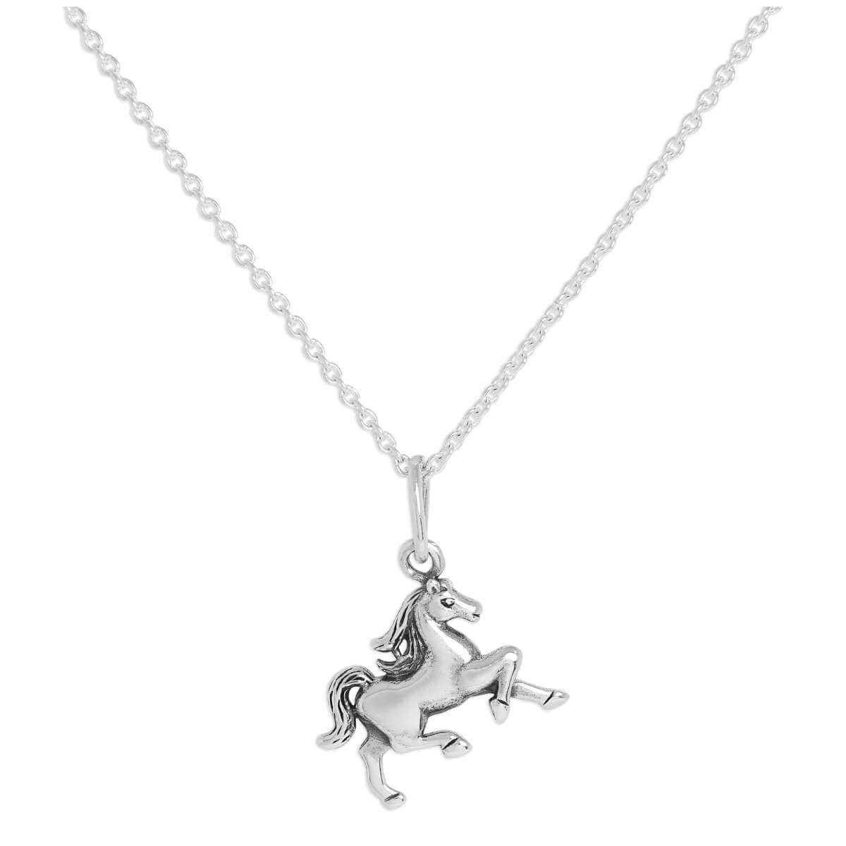 Sterling Silver Walking Horse Pendant Necklace 16 - 24 Inches