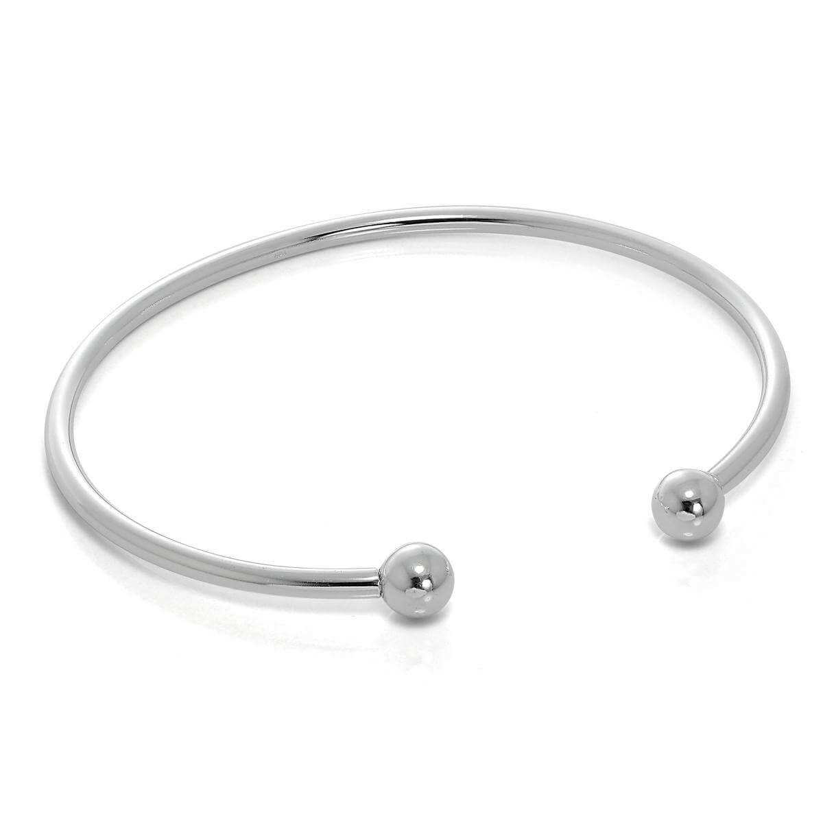 Solid Sterling Silver Opening Torque Mens Bangle