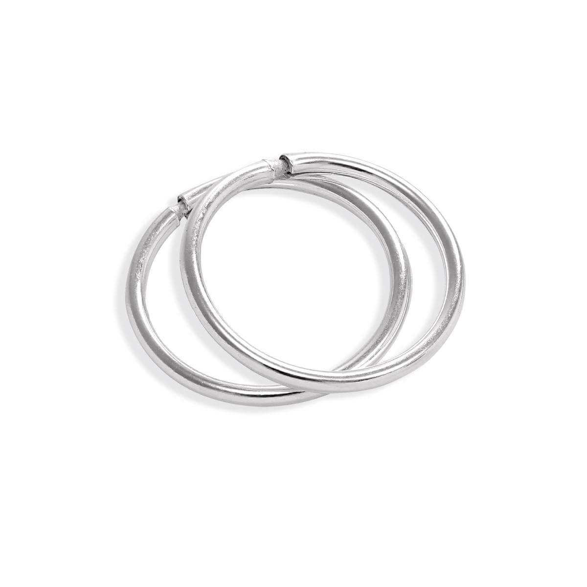 Sterling Silver Lightweight Sleeper 10mm Hoop Earrings