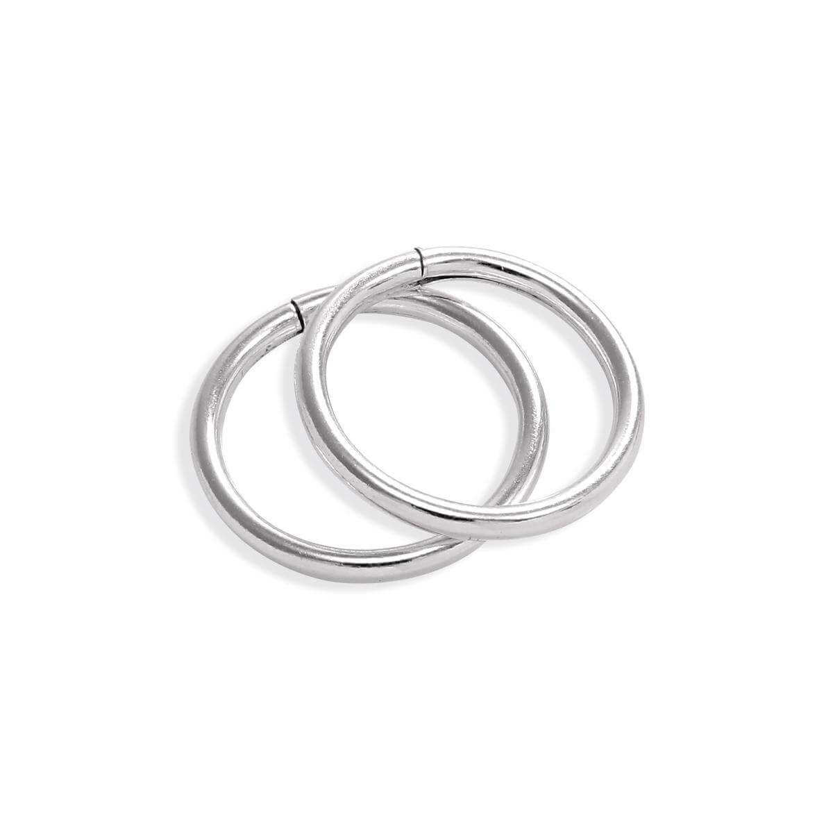 Sterling Silver Lightweight Sleeper 8mm Hoop Earrings