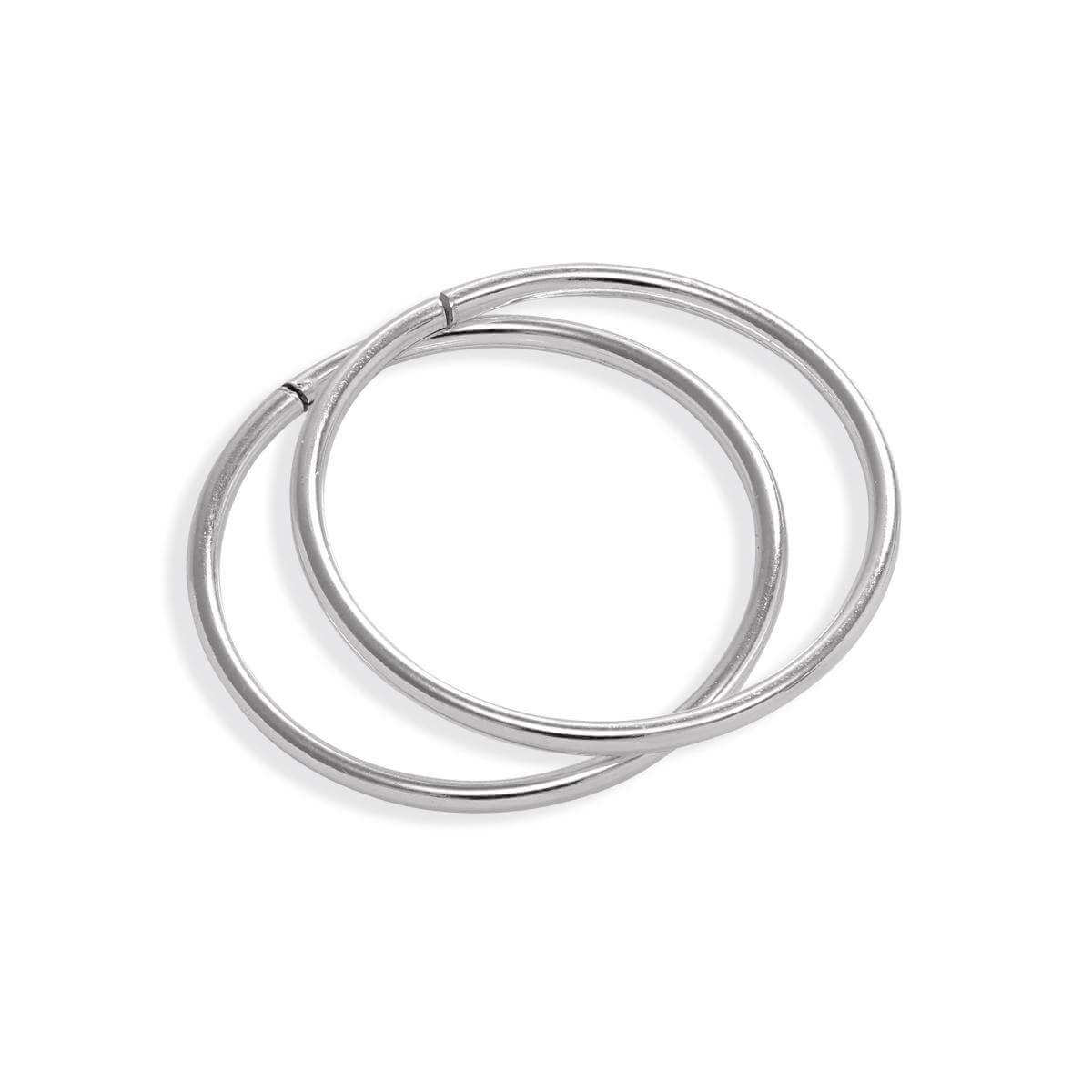 Sterling Silver Lightweight Sleeper 14mm Hoop Earrings