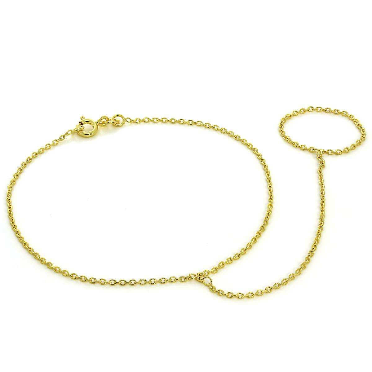 Gold Plated Sterling Silver Belcher Chain Bracelet