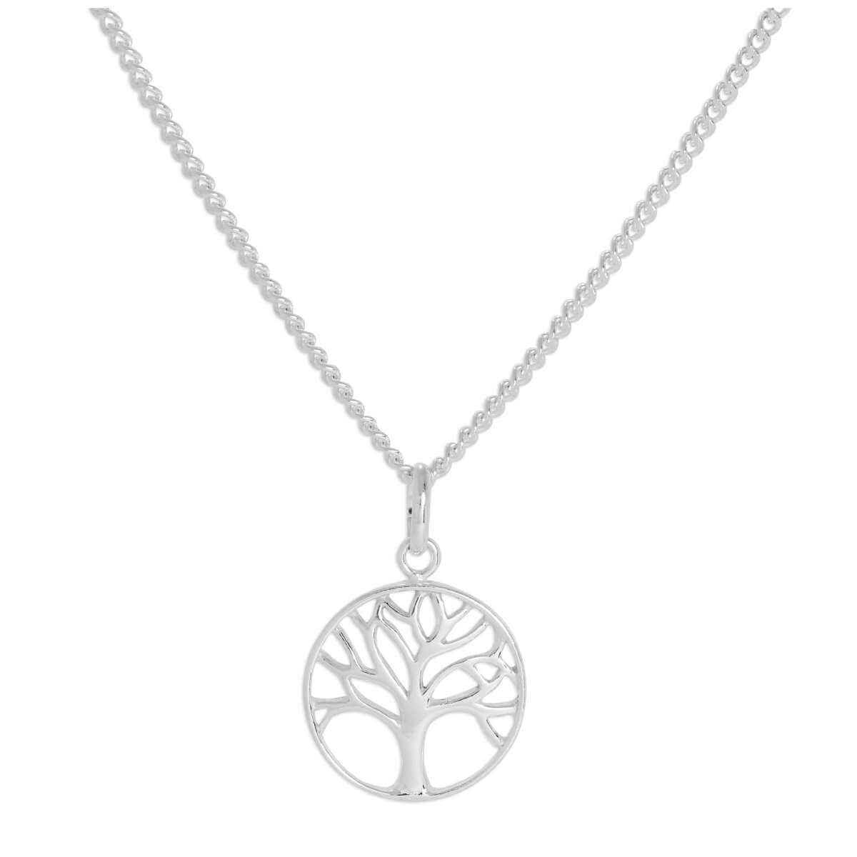 Sterling Silver Tree of Life Necklace 16 - 24 Inches