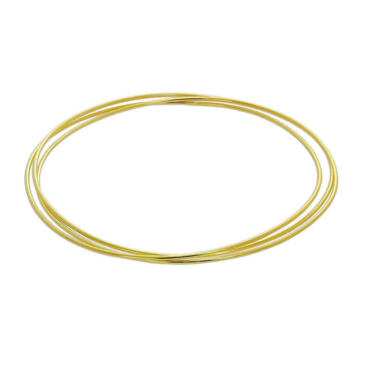 Gold Plated Sterling Silver Triple Stacking Bangle
