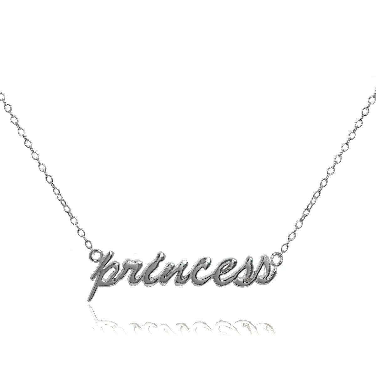 Sterling Silver Princess Necklace on 16 Inch Chain