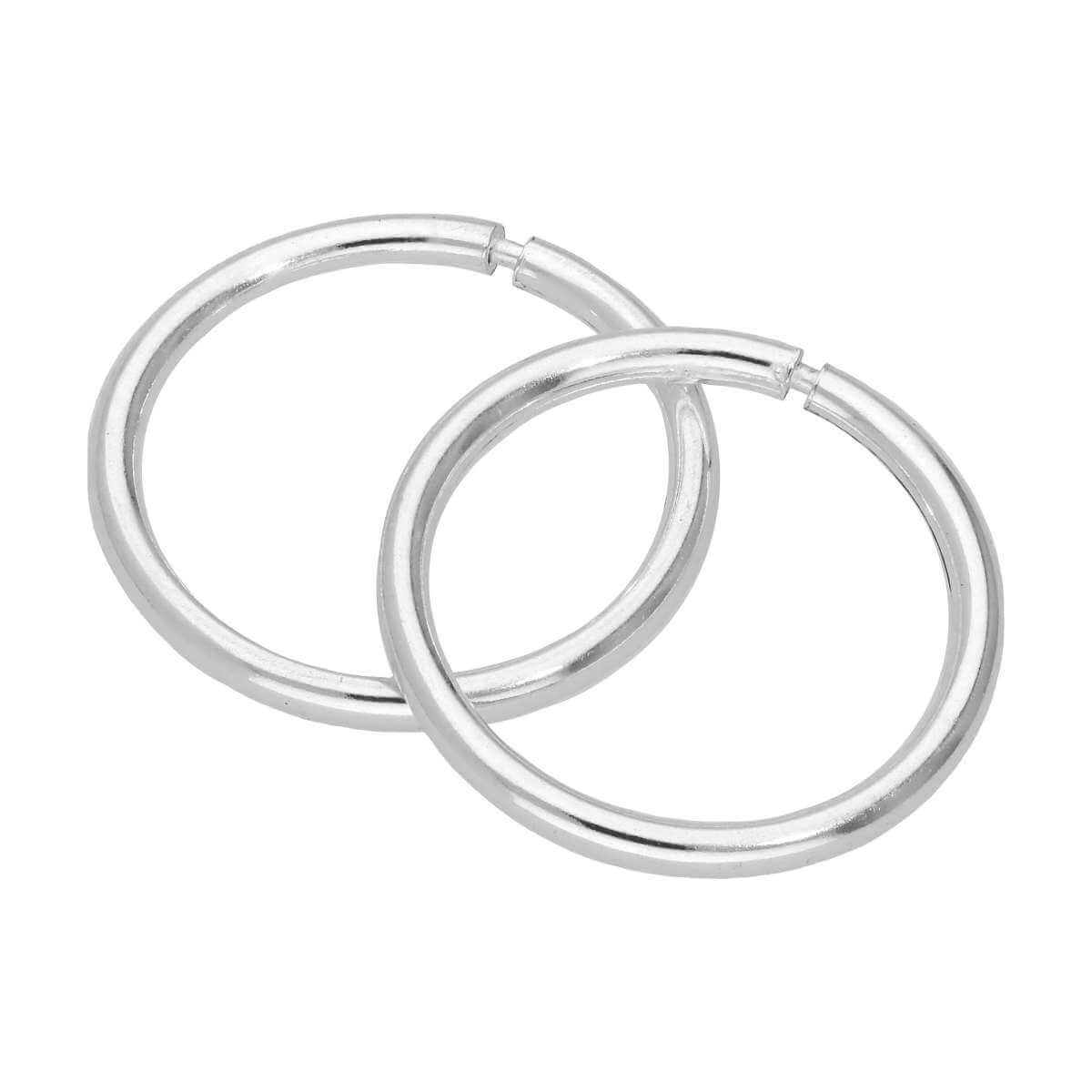 Sterling Silver 1mm Tube Sleeper 14mm Hoop Earrings