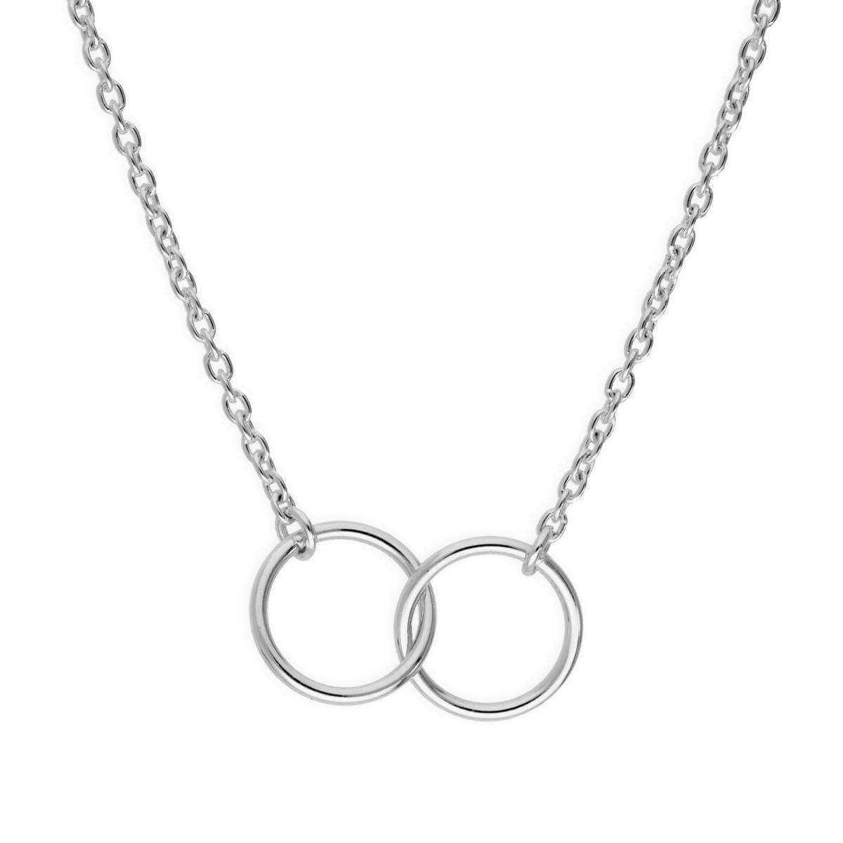 Sterling Silver Fine Belcher Chain Infinity Necklace