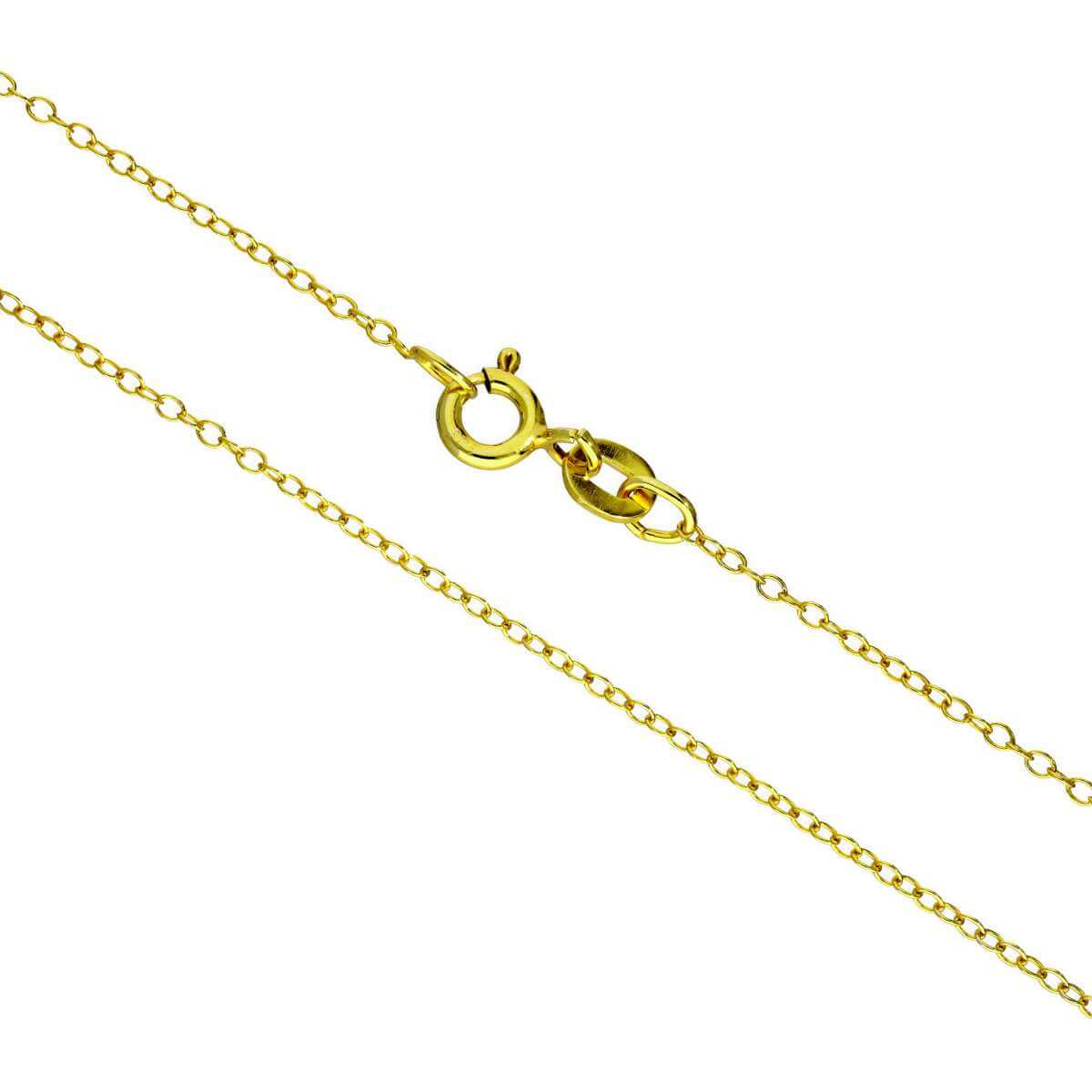 Gold Plated Sterling Silver Fine Belcher Chain Necklace 16 - 22 Inches
