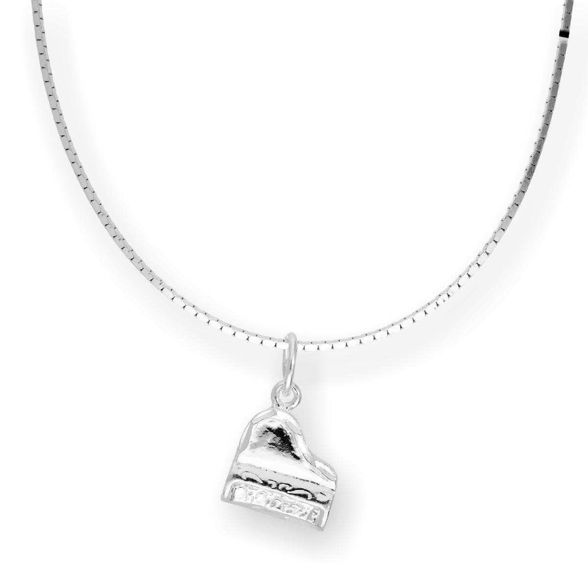 Sterling Silver Piano Pendant Necklace 16 - 22 Inches
