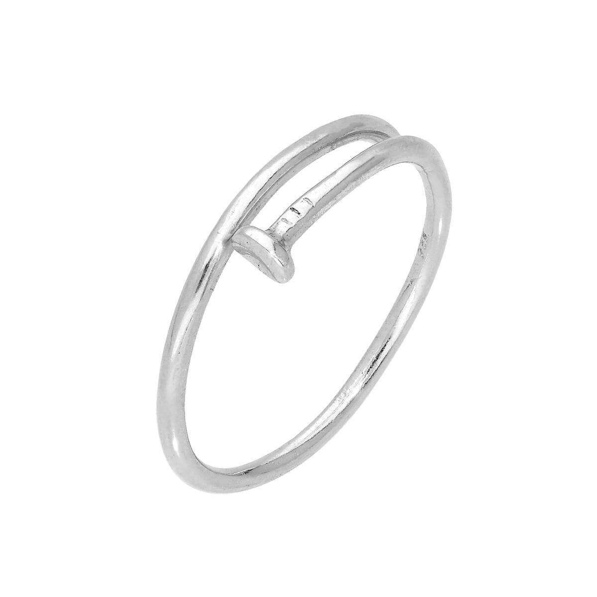 Sterling Silver Nail Adjustable Toe Ring