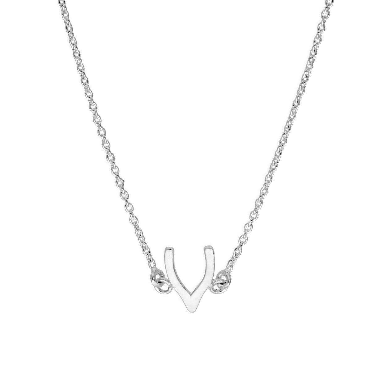 Sterling Silver Wishbone Necklace