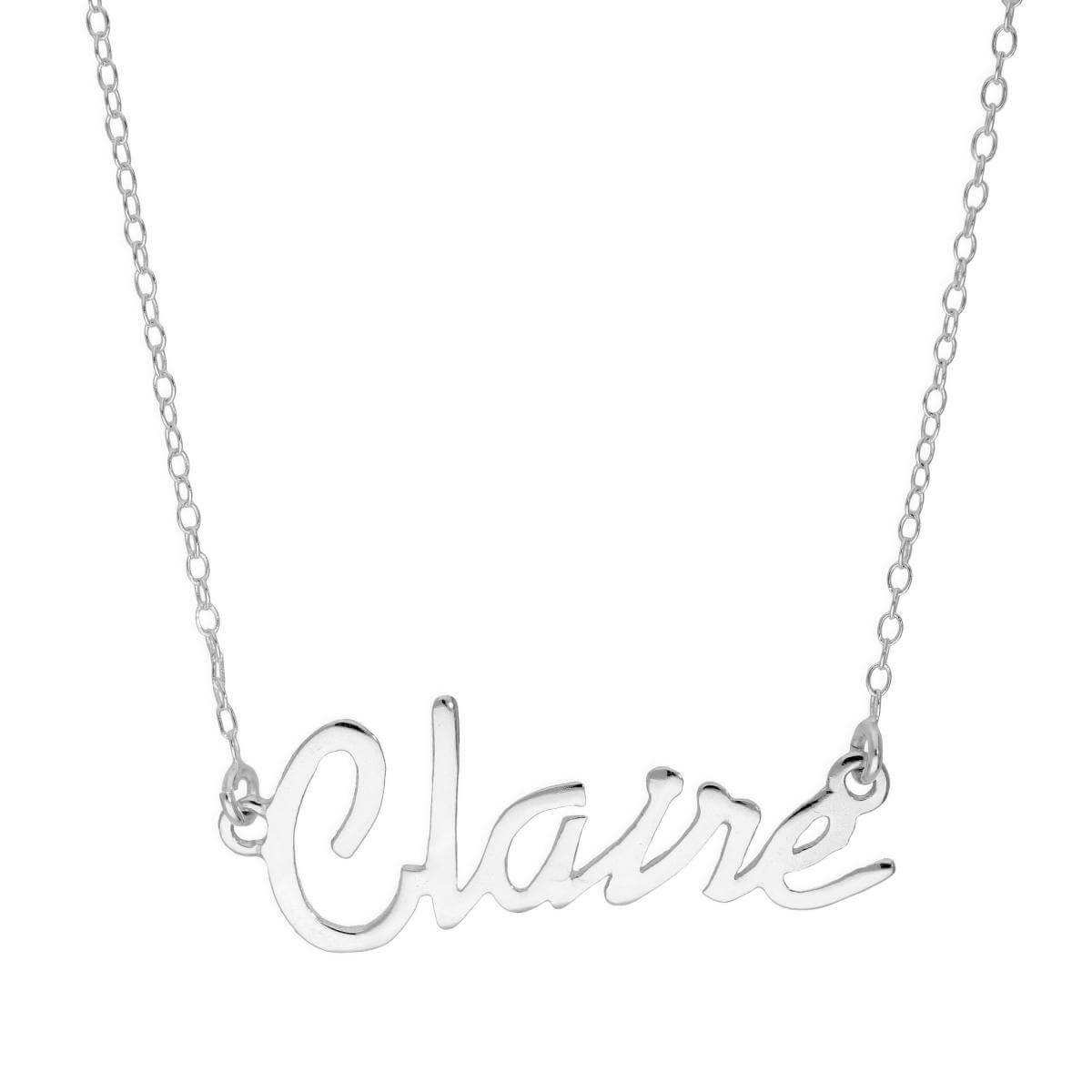 Sterling Silver Claire Necklace on 14 Inch Chain