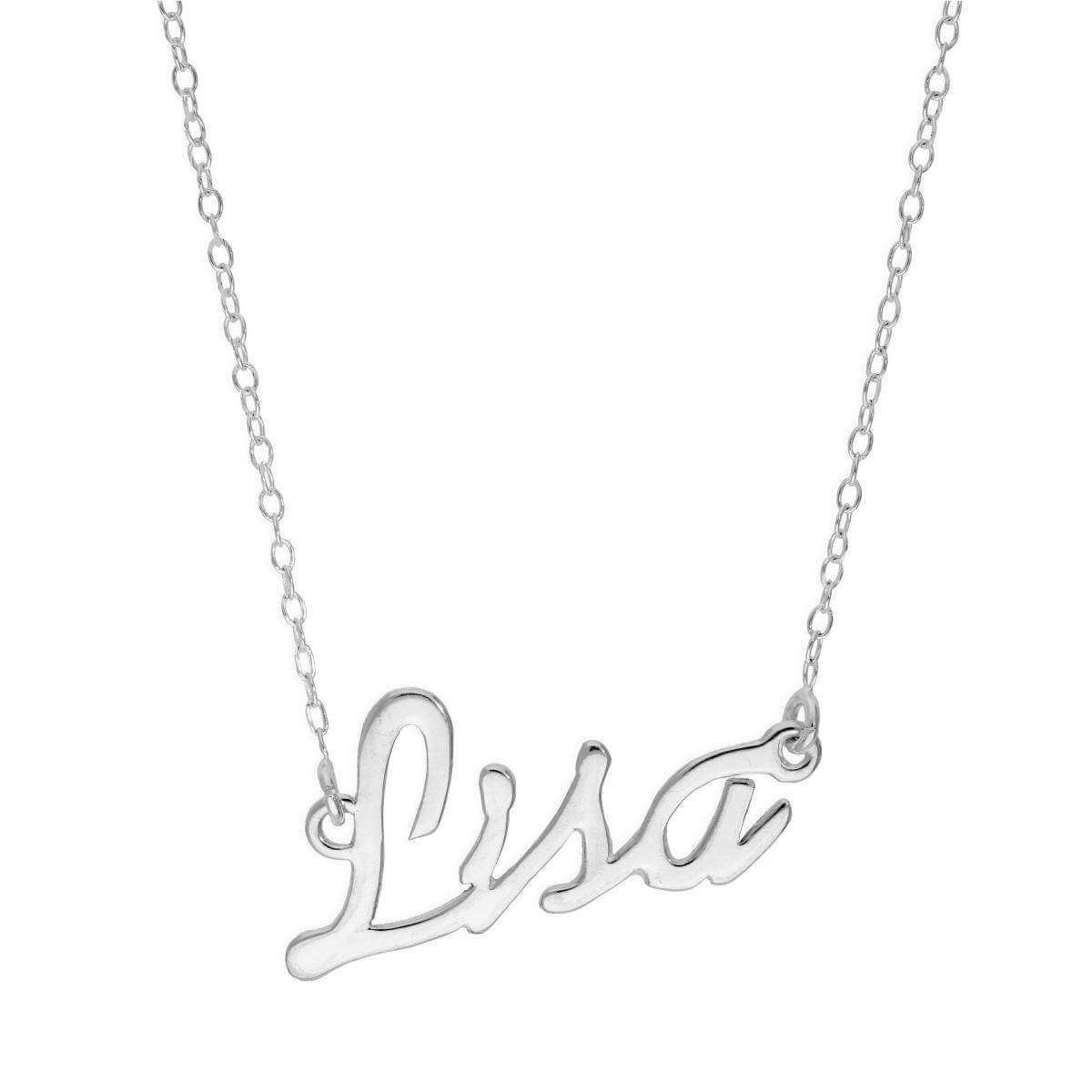 Sterling Silver Lisa Necklace on 14 Inch Chain