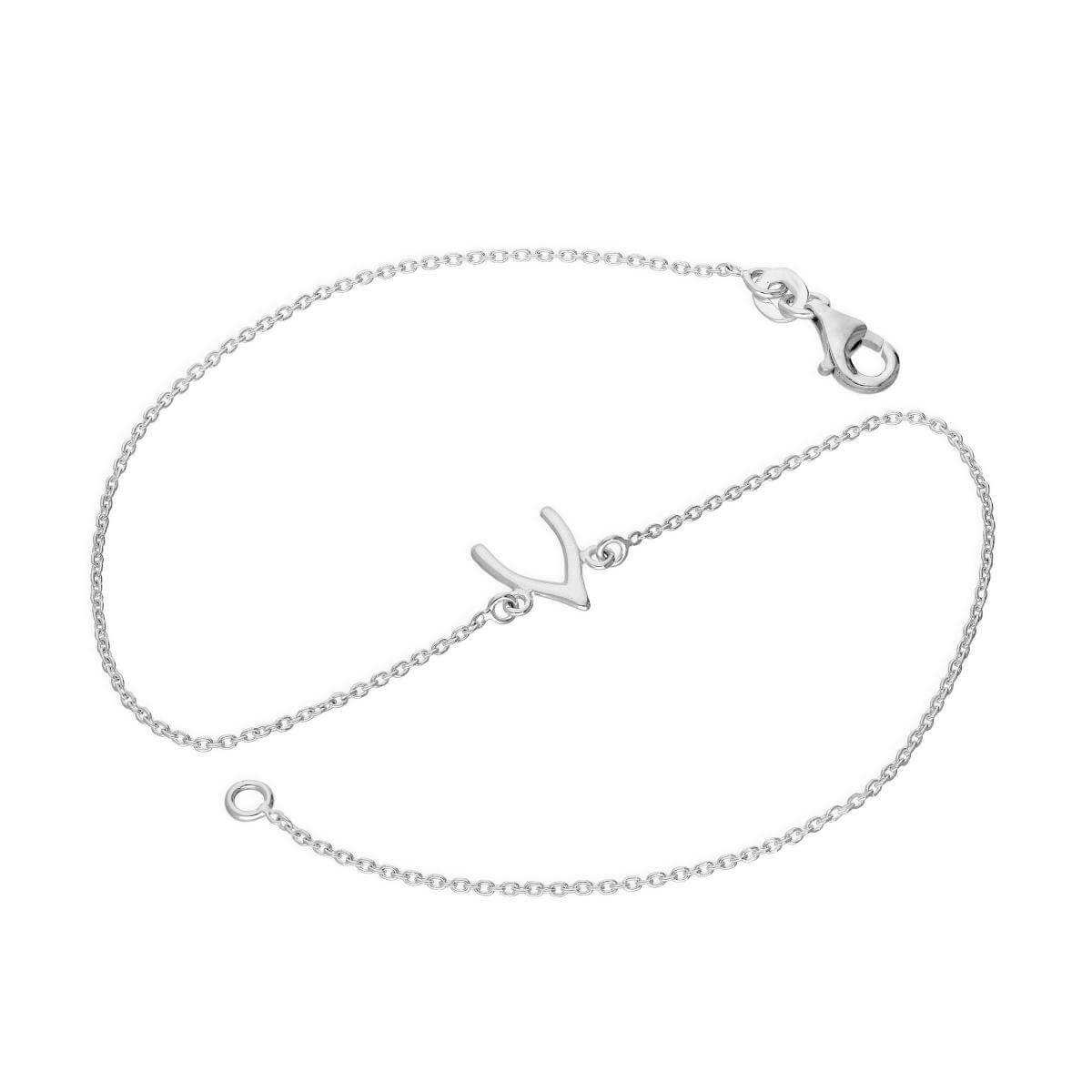 Sterling Silver Wishbone Anklet 10 Inches