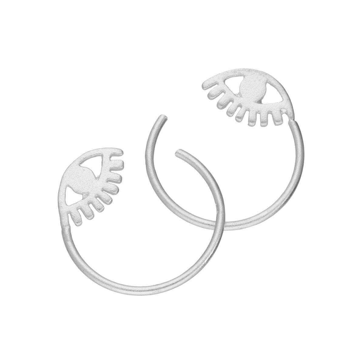 Sterling Silver Eye Pull Through Earrings