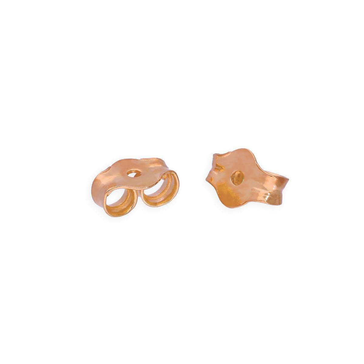 Rose Gold Dipped Sterling Silver Wholesale Spare Butterfly Stud Earrings Backs