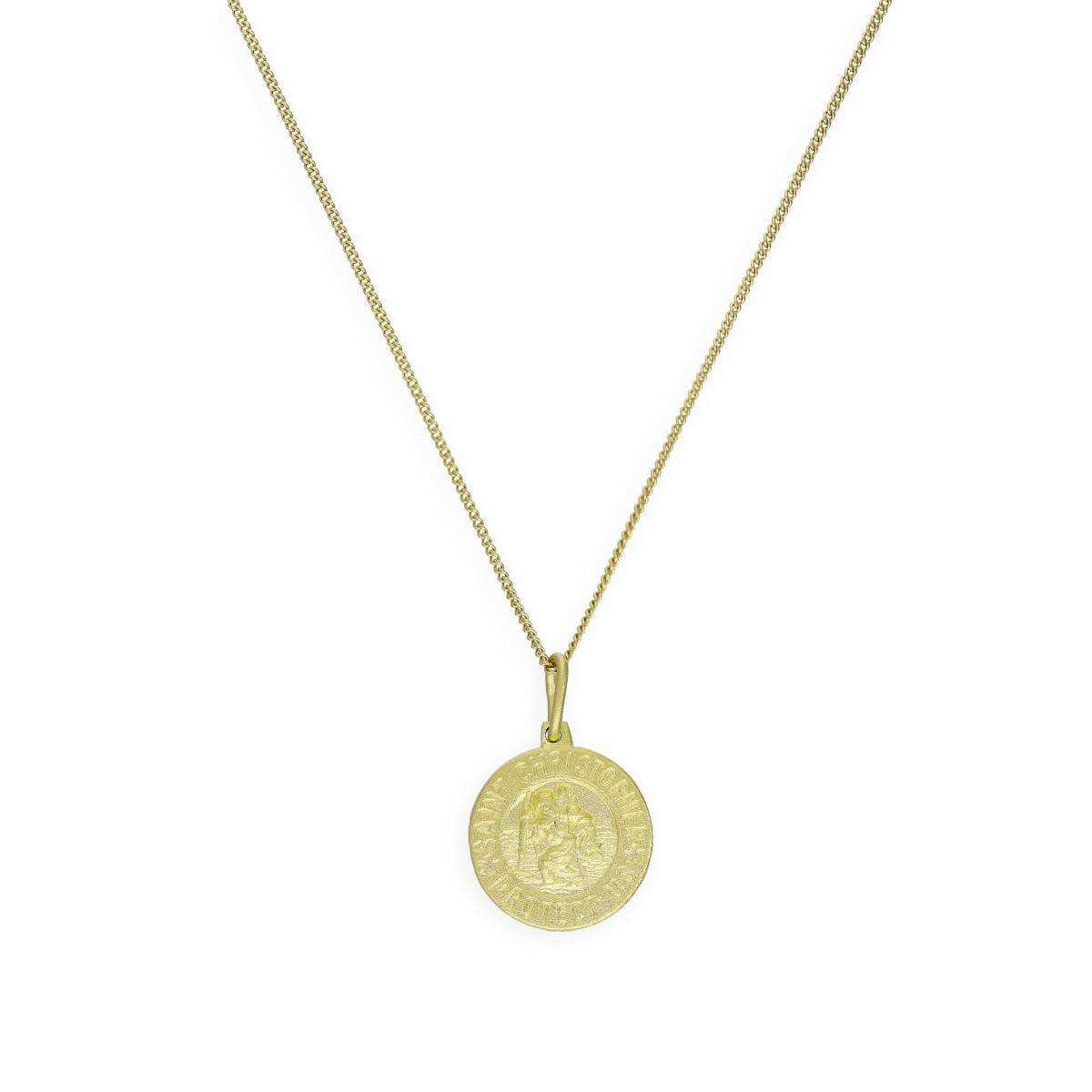 Gold Plated Sterling Silver Saint Christopher Medal on Chain 16 - 32 Inches