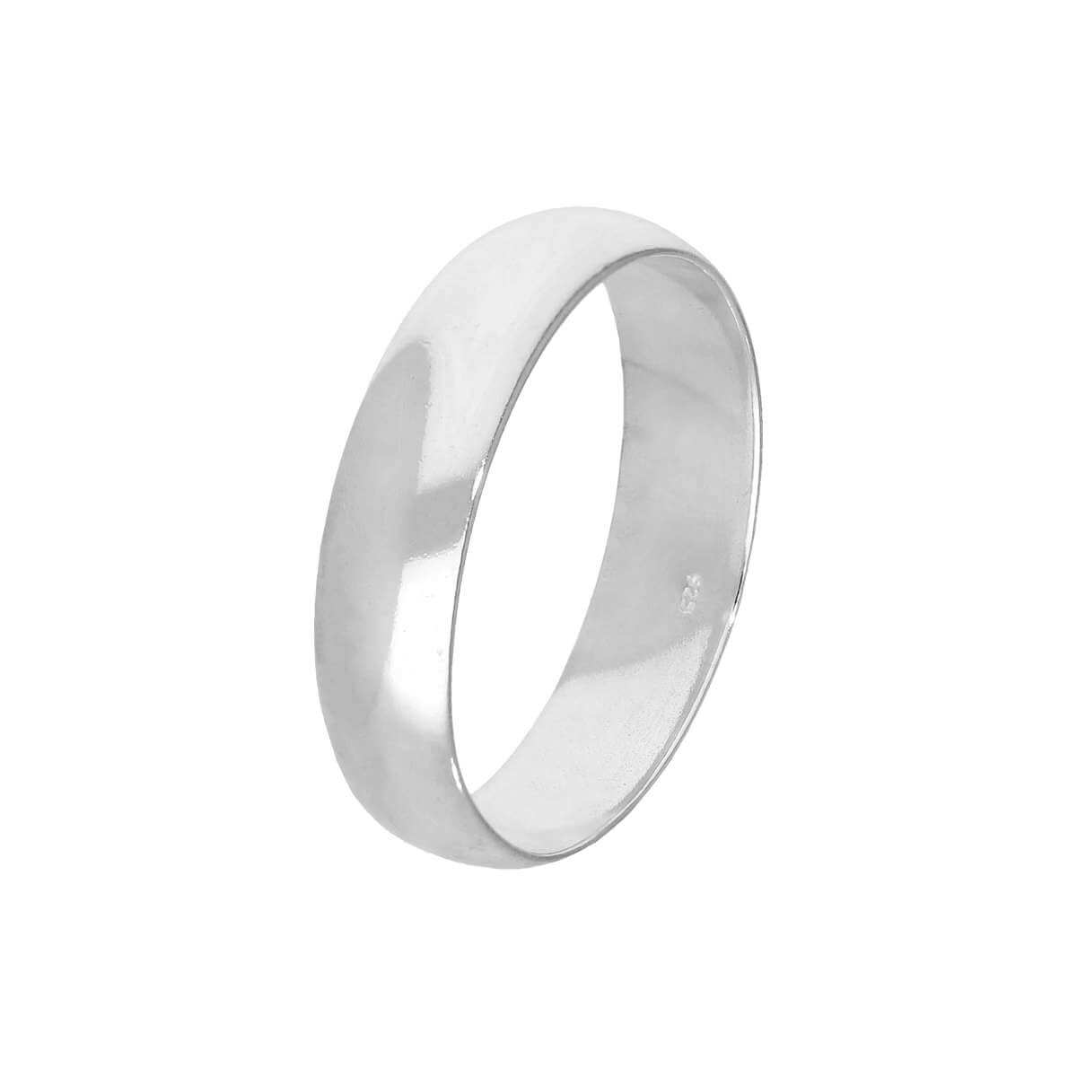 Sterling Silver 5mm Wedding Band Ring Size I - Z+2