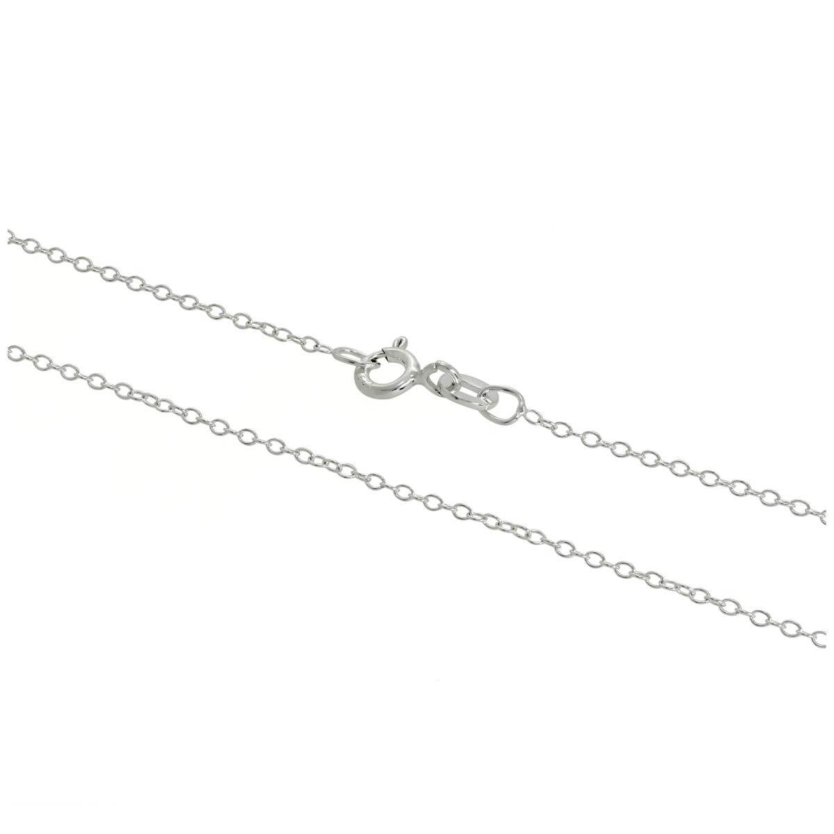 Sterling Silver 1mm Round Cable Chain 14 - 32 Inches
