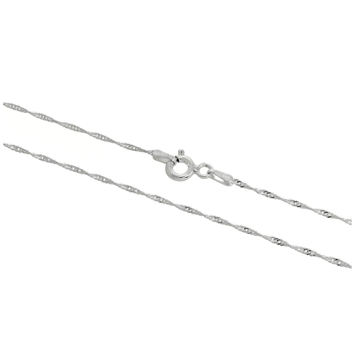 Sterling Silver Disco Twisted Diamond Cut Chain 16 - 24 Inches