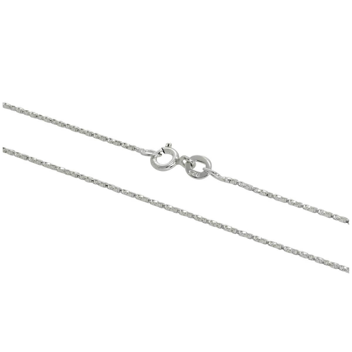 Sterling Silver Twisted Box Chain 16 - 24 Inches