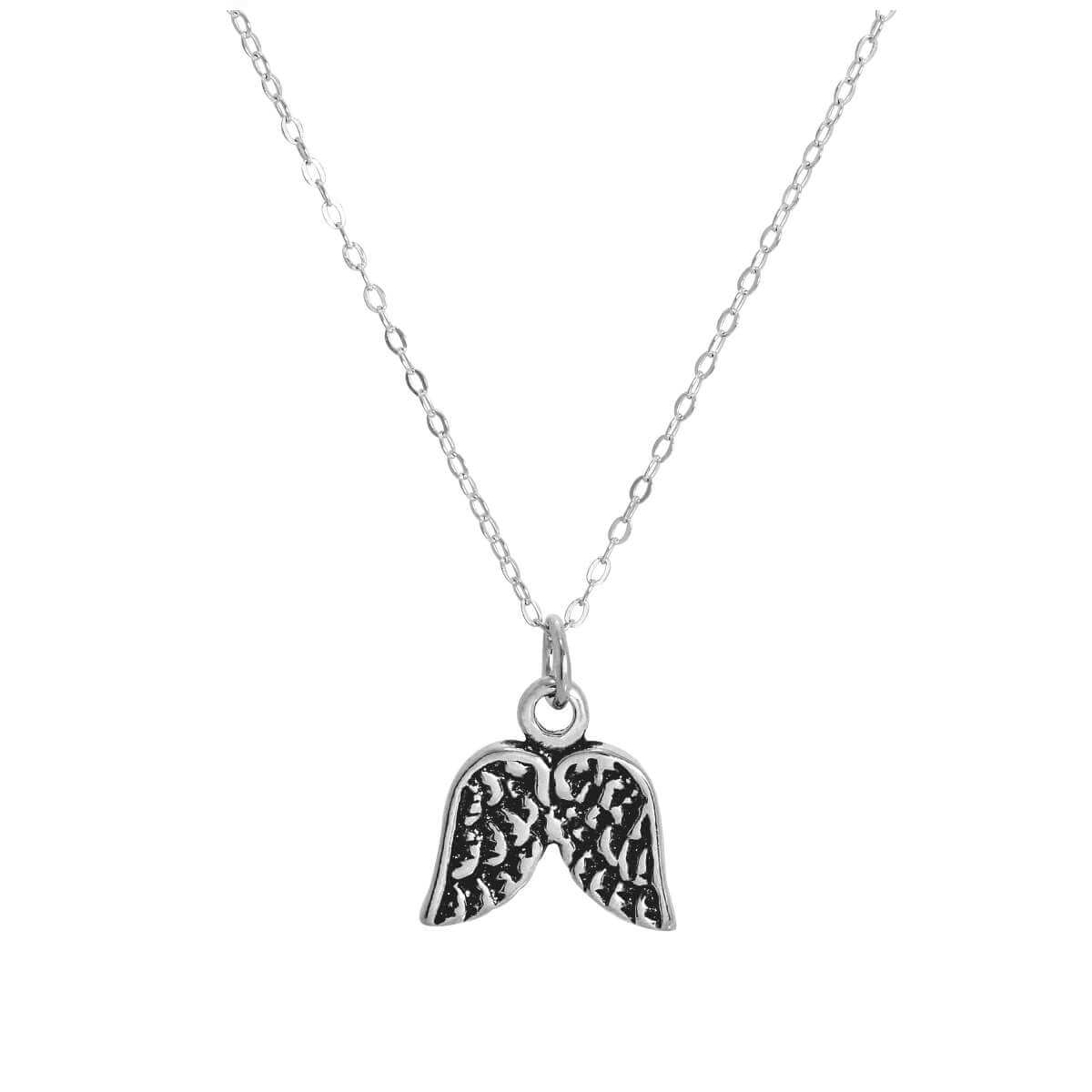Sterling Silver Angel Wings Pendant Necklace 14 - 28 Inches
