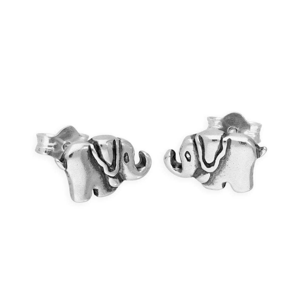 Sterling Silver Little Elephant Stud Earrings