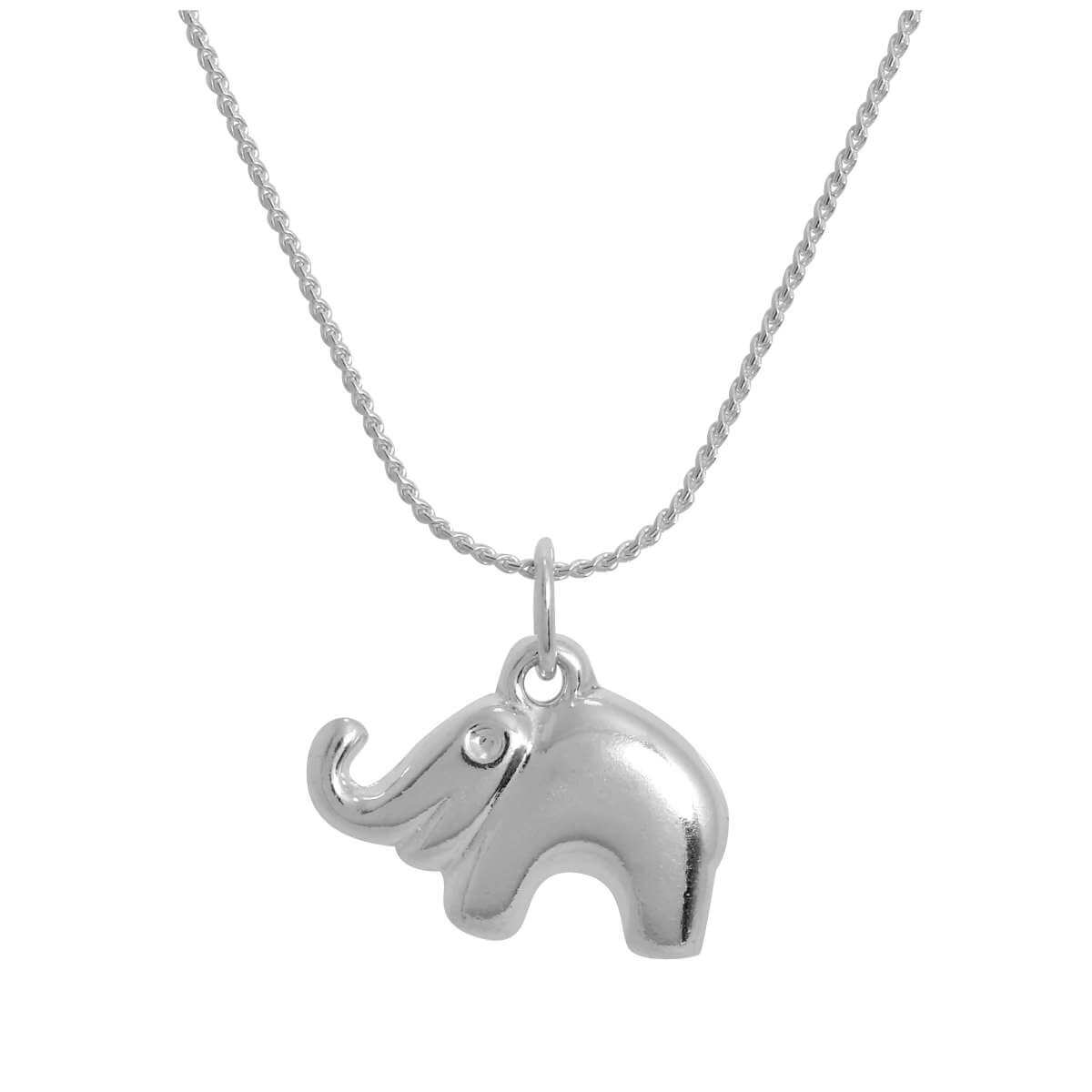 Sterling Silver Elephant Pendant Necklace 14 - 28 Inches